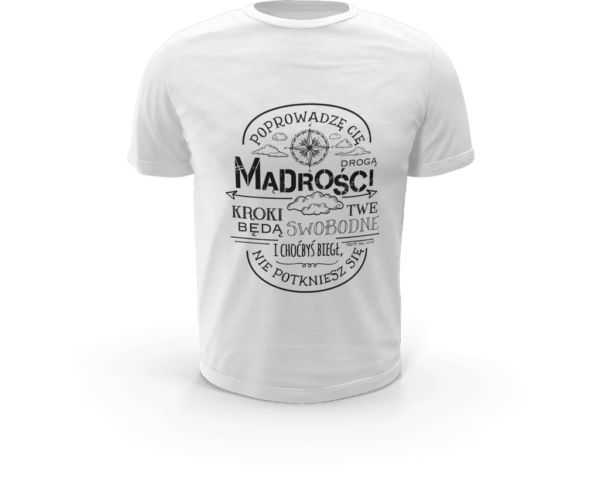 koszulka-chrzescijanska-droga-madrosci-biala