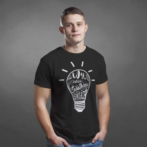 studio 3:16 chrześcijańska koszulka męska żarówka światłości